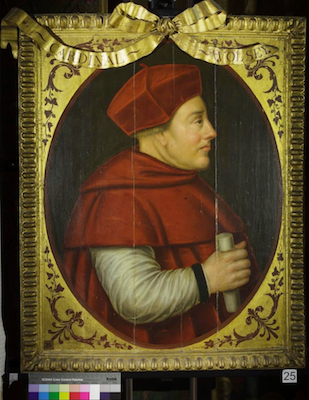 Knole House portrait of Thomas Wolsey (Brown Gallery, painting no. 25)