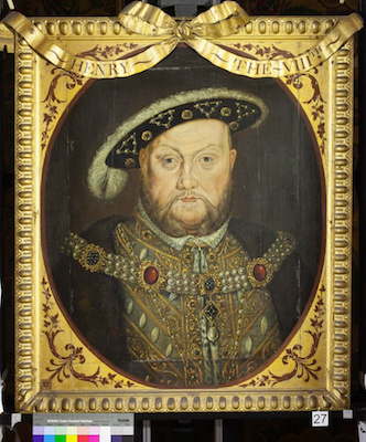 Knole House portrait of King Henry VIII (Brown Gallery, painting no. 27)