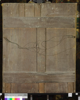 Reverse view of Knole House portrait of Thomas Cromwell (Brown Gallery, painting no. 29)