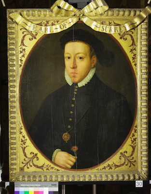 Knole House portrait of Henry Howard, Earl of Surrey (Brown Gallery, painting no. 30)