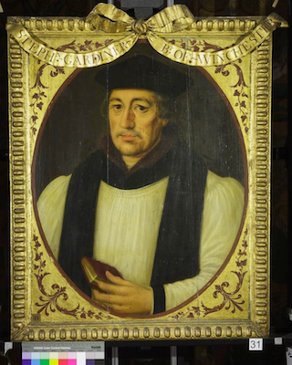 Knole House portrait of Stephen Gardiner (Brown Gallery, painting no. 31)