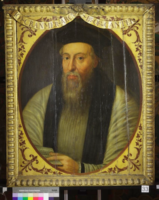 Knole House portrait of Thomas Cranmer (Brown Gallery, painting no. 33)