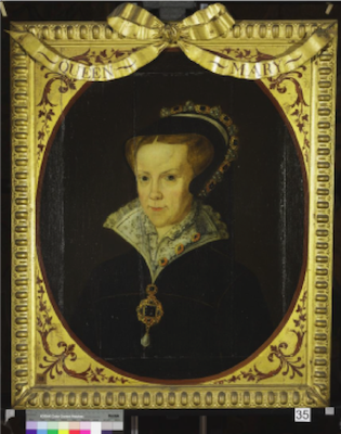 Knole House portrait of Queen Mary I (Brown Gallery, painting no. 35)