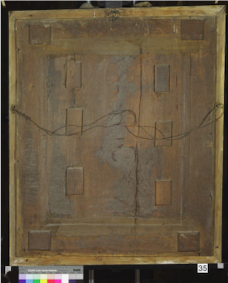 Reverse view of Knole House portrait of Queen Mary I (Brown Gallery, painting no. 35)