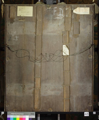 Reverse view of Knole House portrait of Sir John Norris (Brown Gallery, painting no. 48)
