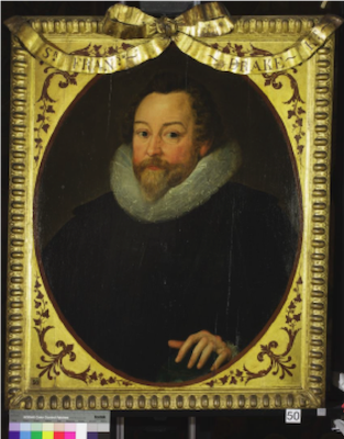 Knole House portrait of Sir Francis Drake (Brown Gallery, painting no. 50)