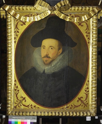 Knole House portrait of Henry Howard, Earl of Northampton (Brown Gallery, painting no. 59)