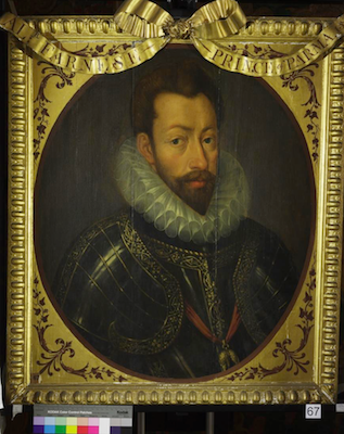 Knole House portrait of Alexander Farnese (Brown Gallery, painting no. 67)