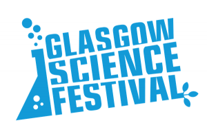 Colour logo of the Glasgow Science Festival
